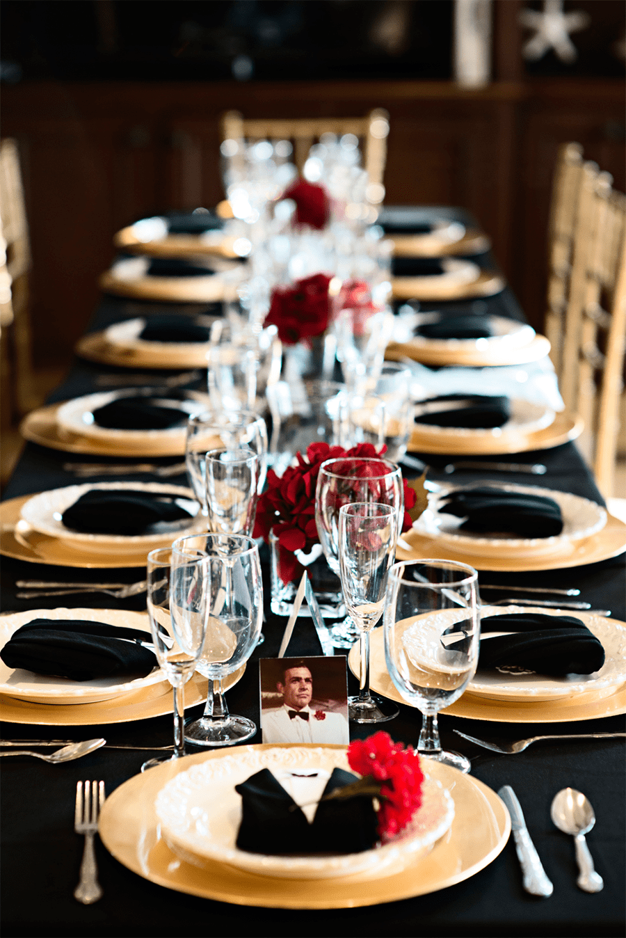 James bond wedding pre party theme for 007 decoration ideas
